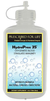 Prescribed For Life HydroProx 35 - Pure 35% Food Grade Hydrogen Peroxide Diluted to 8%, 4 oz