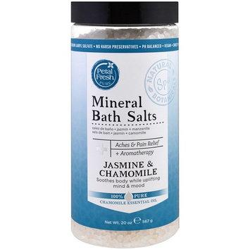 Petal Fresh, Pure, Mineral Bath Salts, Jasmine & Chamomile, 20 oz (567 g) [Scent : Jasmine & Chamomile]
