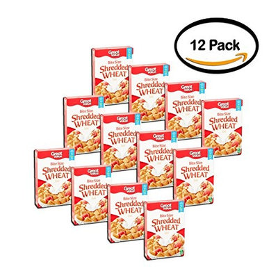 PACK OF 12 - Great Value Shredded Wheat Cereal, 16.4 oz