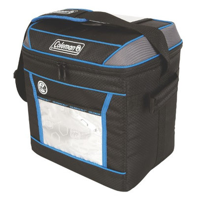 Coleman Cooler Soft 30 Can 24hr Liner Blu Soft Cooler