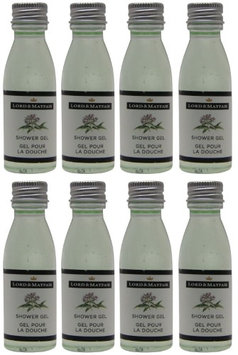 Lord and Mayfair Apple & Wicker Shower Gel Lot of 1oz Bottles. (Pack of 8)