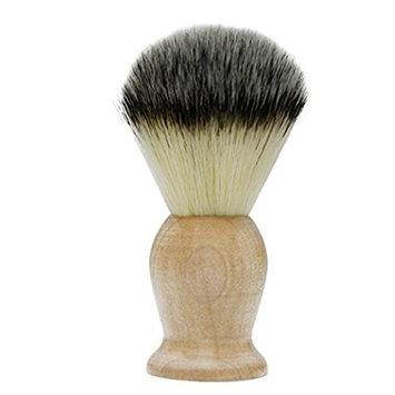 Bhbuy Professional Pure Badger Shaving Razor Brush with Hard Wood Handle Hair Salon Tool