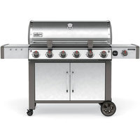 Weber Genesis II LX S-640 6-Burner Natural Gas Grill in Stainless, Silver
