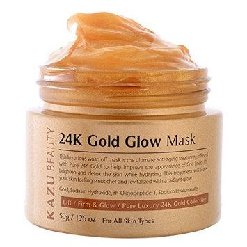 KAZU BEAUTY 24K Gold Glow Mask, 1.76 oz