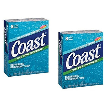 Coast Classic Original Scent, 16 Count 4 Ounce Bars by Coast
