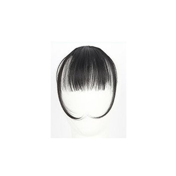 GreatFun Clip On Clip in Front Hair Bang Fringe Hair Extension Piece Thin for Pretty Girls Women (A)