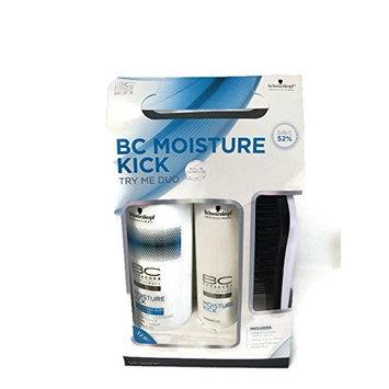 Schwarzkopf BC Moisture Kick Try Me Duo Gift set 1 Cleansing Conditioner 16.9 fl oz, 1 Shampoo 8.5 fl oz, 1 Schwarzkopf Detangle Brush