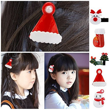 Kangkang@ 6PCS Adults Kids Baby Pet Xmas Theme Hair Clip Pin Hair Accessories Christmas Decorations for Home kerst natale decor