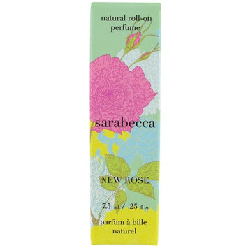 Sarabecca, Natural Roll-On Perfume, New Rose, .25 fl oz (7.5 ml) [Scent : New Rose]