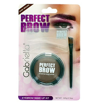Perfect Brow Eyebrow Makeup Kit: 3 Brow Stencils, 1 Eyebrow Powder & 1 Brush