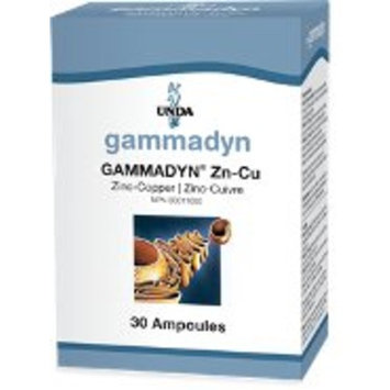 UNDA - GAMMADYN Zn-Cu - Zinc-Copper Oligo-Element Supplement - 30 Ampoules