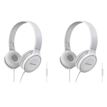 Panasonic Headphones RP-HF100M-W (White) Integrated Mic and Controller