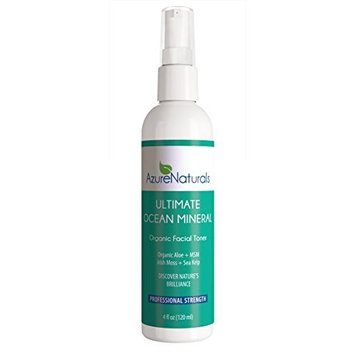 ULTIMATE OCEAN Mineral Organic Facial Toner, 90+ Ocean Minerals, Blue Green Algae + Irish Moss + Kelp Will Brighten & Hydrate Your Skin Giving You a Beautiful, Youthful Looking Glow!