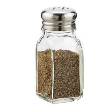 Tablecraft Salt & Pepper Shaker with Stainless Steel Top
