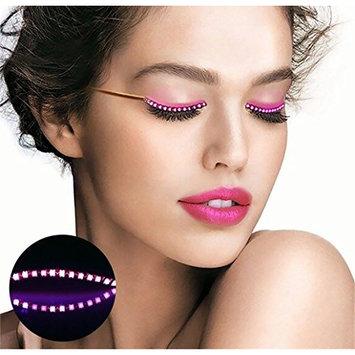 LED Eyelashes Waterproof Flashing LED Light Lashes 8 Modes Luminous Shining Eyelash for Party Bar NightClub Concerts Birthday Gift Chrismas - Pink