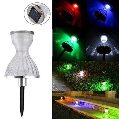 Light, Hatop Solar Powered LED RGB Skirt Lamp Outdoor Courtyard Garden Landscape Lawn Light