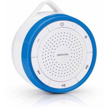 Memorex Wireless Submersible Speaker + FM Radio, Blue/White