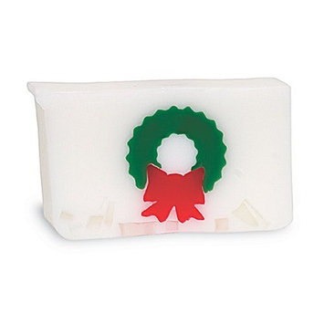Primal Elements Wrapped Bar Soap, Christmas Wreath, 6.0-Ounce Cellophane (Pack of 2)