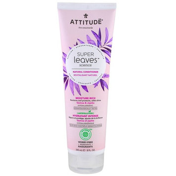 ATTITUDE, Super Leaves Science, Natural Conditioner, Moisture Rich, Quinoa & Jojoba, 8 oz (240 ml) [Scent : Quinoa & Jojoba]