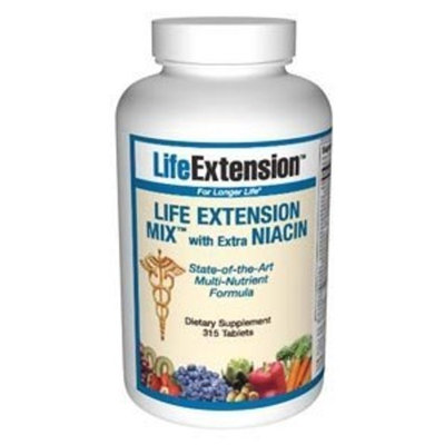 Life Extension Mix with extra Niacin Tablets, 315 Count