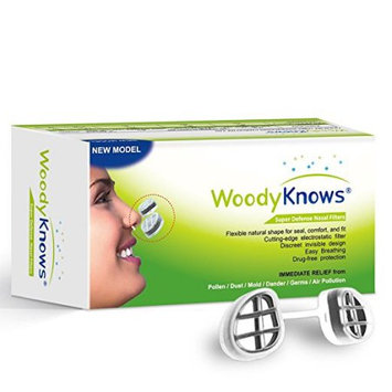 Allergy Sinus Relief - WoodyKnows Super Defense Nose Nasal Filters - Travel Sized Air Purifiers
