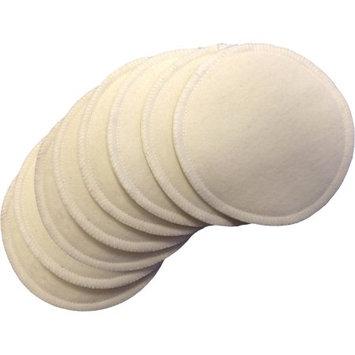 Nuangel Natural Cotton Washable Nursing Pads (8 Per Package) - Natural