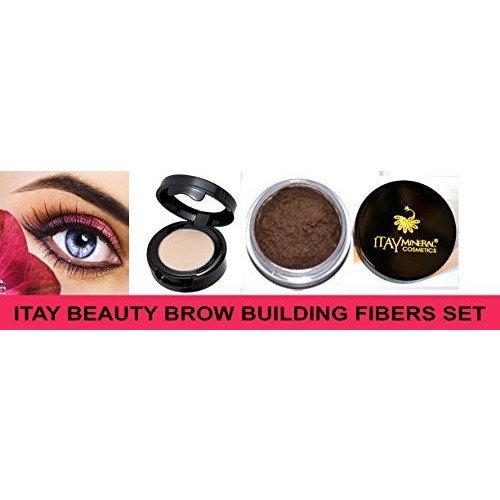 Itay Beauty Brow Building Fibers Set (Fibers+Wax) (Md Brown) by Itay Beauty
