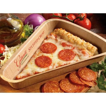 Gilardi Medium Stuffed Crust Whole Grain Sliced Turkey Pepperoni Pizza, 4.5 Ounce -- 96 per case.