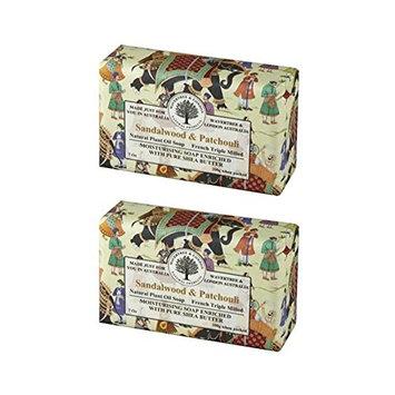 Wavertree & London Sandalwood & Patchouli Luxury Soap, 7 Oz (Pack of 2)
