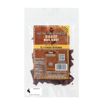 Wyoming Gourmet Beef All Natural Angus Beef Jerky Honey 3.5 oz