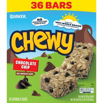 Quaker Chewy Chocolate Chip , 0.84 Oz, 36 Ct Granola Bars