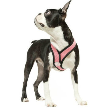 Gooby 04110-PNK-L Comfort X Harness Pink Large Soft Synthetic Lambskin Trimming Strap