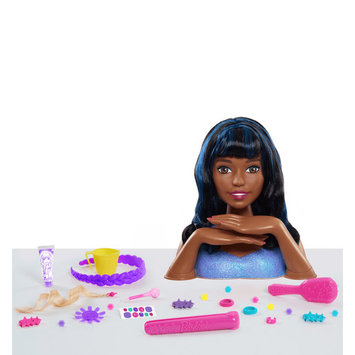 Barbie Cut & Color Deluxe Styling Head - Black Hair w/ Bangs