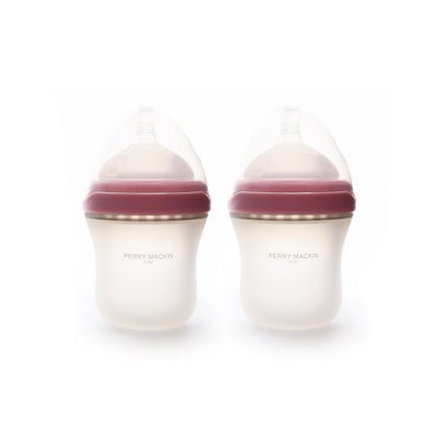 Perry Mackin Baby Silicone Bottle 6 Oz 2 Pack Pink
