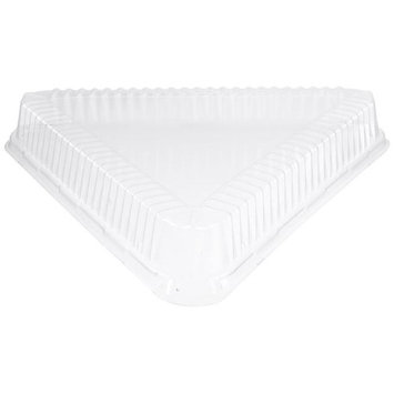WNA ATR16dm 16 in. CaterLine Plastic Triangle Tray Dome Lid - Clear