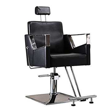 Funnylife Barber Chair with Headrest Adjustable Salon Styling Machine
