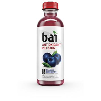 B.a.i. Bai Brasilia Blueberry, 5 calories, 100% Natural, Antioxidant Infused Beverage, 18oz, 12pk