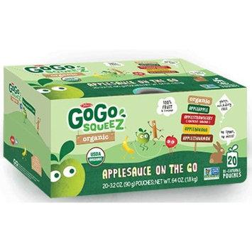 GoGo Squeez Organic Applesauce On-The-Go Variety Pack! Apple, Cinnamon, Strawberry, Banana,