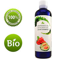Hair Growth Shampoo For Women and Men With 100% Pure Avocado & Grape Seed Oil - Shampoo For Dry Hair - DHT Blocker Hair Treatment With Antioxidants - Smooth & Shiny Hair - Safe For Color Treated Hair