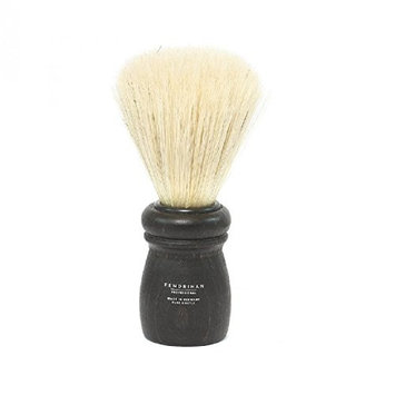 Fendrihan Boar Bristle Shaving Brush with Black Beech Wood Handle for Personal & Professional Shaving (Made in Germany)