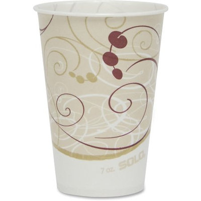 Solo Cup Company Symphony 7-oz. Wax-Coated Paper Cold Cup, 2,000 Cups (SCC R7NSYM)