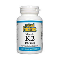 Vitamin K2 100mcg Natural Factors 60 VCaps