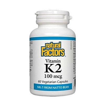 Vitamin K2 100mcg Natural Factors 60 VCaps