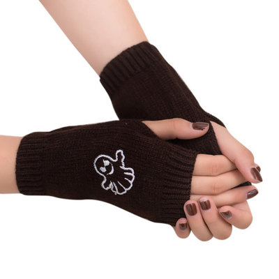 DZT1968Women Girl Knitted Arm Fingerless Warm Winter Gloves Soft Warm Mitten