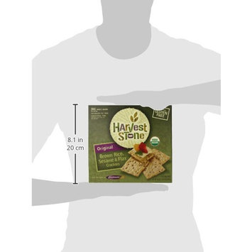 Harvest Stone Original Brown Rice, Sesame and Flax Crackers, Gluten Free, 20 Ounce [Original]