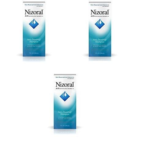 Nizoral A-D Anti-Dandruff Shampoo, 7 Fl. Oz (3 Pack)