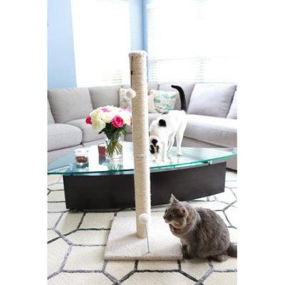 One Source International, Llc 36 inch Sisal Scratching Post (Beige Fleece 16x16 Base)