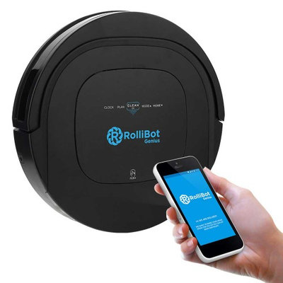 ROLLIBOT GENIUS BL800 - Robotic Vacuum Cleaner. Vacuums, Sweeps, & Wet Mops Hard Surfaces and Carpet