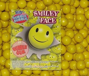 Dubble Bubble Smiley Face Gumballs, 2LBS