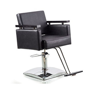 BeautyRiver Classic Hydraulic Barber Chair Salon Beauty Spa Styling Chair (black)